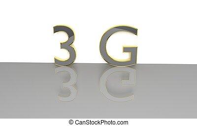 3G 3d text.
