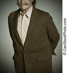 3º edad, bigote, hombre
