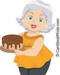 3º edad, pastel