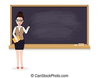 3º edad, profesor, enseñanza, estudiante, en, aula