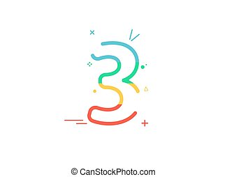 3rd Anniversary celebration vector font,  greeting, ...