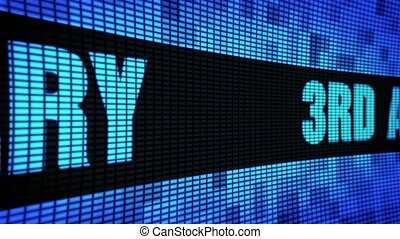 3rd Anniversary Side Text Scrolling LED Wall Pannel Display...