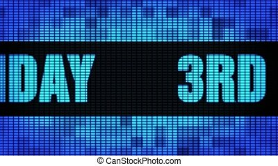 3rd Happy Birthday Front Text Scrolling LED Wall Pannel...