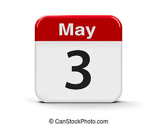 3rd May - Calendar web button - The Third of May - World...