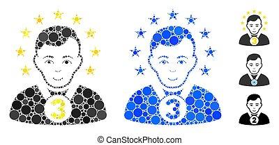 3Rd Prizer Sportsman Mosaic Icon of Circle Dots