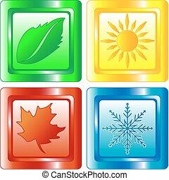 4つの季節, ボタン, 網