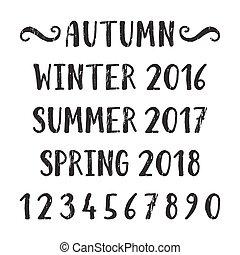 4つの季節, レタリング