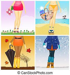 4つの季節, 女の子