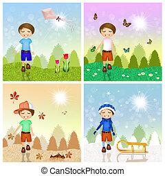 4つの季節, 子供