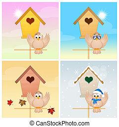 4つの季節, 鳥