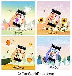 4つの季節, selfie