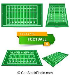 4つの項目, アメリカ人, template., football.