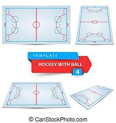 4つの項目, ホッケー, ball., template.