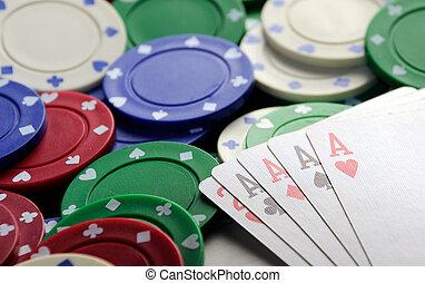 4枚のエース, カジノチップ