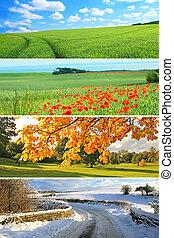 4, årstider, samling