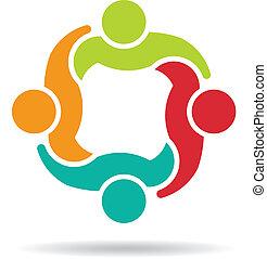 4, équipe, logo, congrès