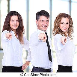 4, グループ, ビジネス 人々