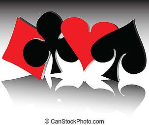 4, シンボル, カード, イラスト