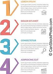 4, ステップ, infographic, -, テンプレート