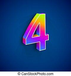 4, ベクトル, 数, 3d