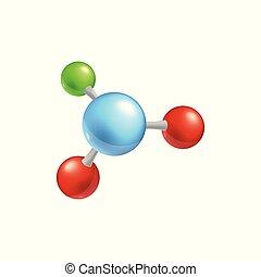 4, ボール, 分子, 構造, カラフルである