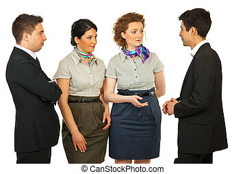 4, 会話, ビジネス 人々
