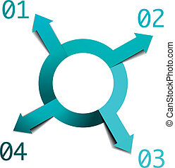 4, 円, infographic, 矢
