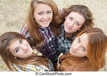 4, 十代, 幸せ, 友人, 女の子
