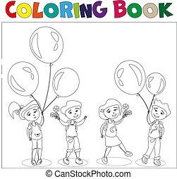 4, 子供, ballons