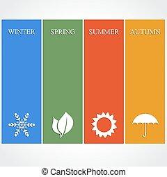 4, 季節, イラスト