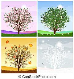 4, 季節, 木
