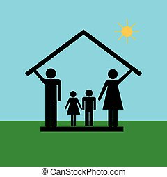 4, 家族, 家, 保護