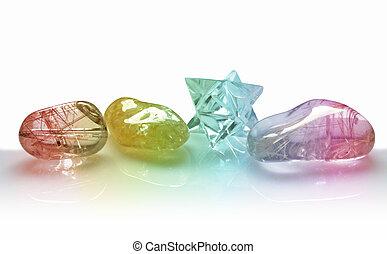 4, 水晶, クォーツ, カラフルである