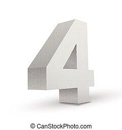 4, 白, 数, 手ざわり