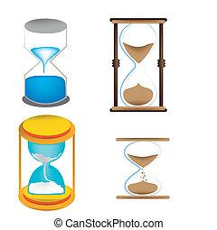 4, 砂, clocks