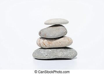 4, 禅, 石, 白, 背景