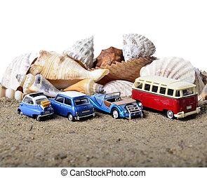 4, 自動車, text., 休暇, parked., conceptual., 場所, 海, あなたの