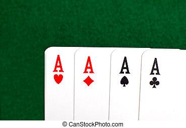 4, aces.