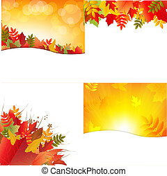 Autumn Backgrounds With Leafs