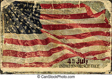 4 av juli, amerikan flagga