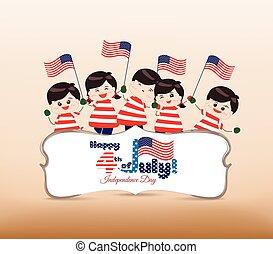 4 av juli, självständighetsdagen, baner