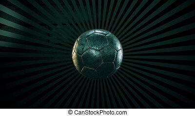 4, balle, football, sunburst