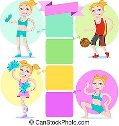 4 beautiful sporty girl