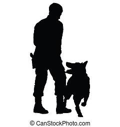 4, cão, polícia