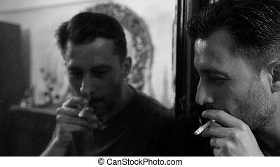 4, cigarette fumant