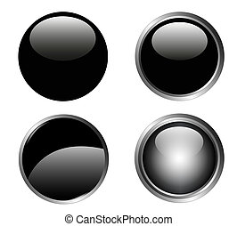 4 Classy Black Buttons