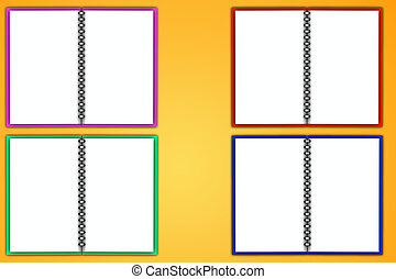 4 Color Blank Notepad