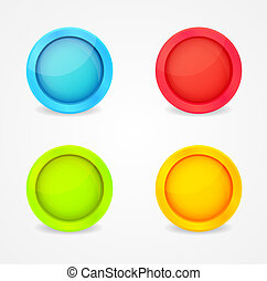color glossy buttons