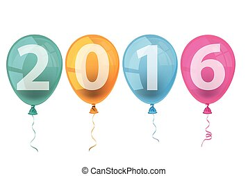4 Colored Balloons 2016