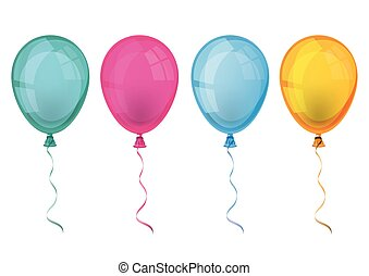4 Colored Balloons